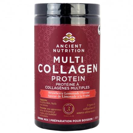 Ancient Nutrition Multi Collagen Protein - Strawberry Lemonade, 262g