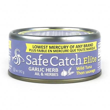 Safe Catch Canned Wild Tuna - Garlic Herb, 142g