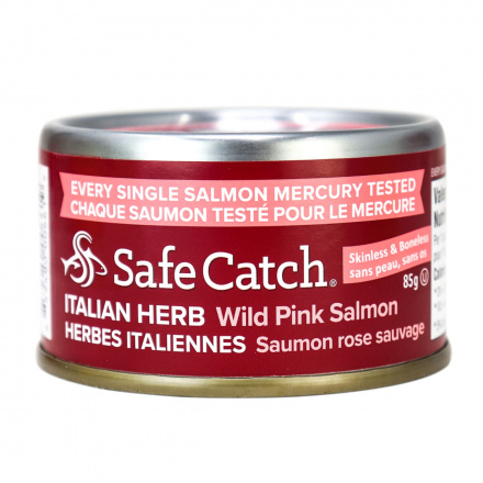 Safe Catch Wild Alaska Pink Salmon - Italian Herb, 85g