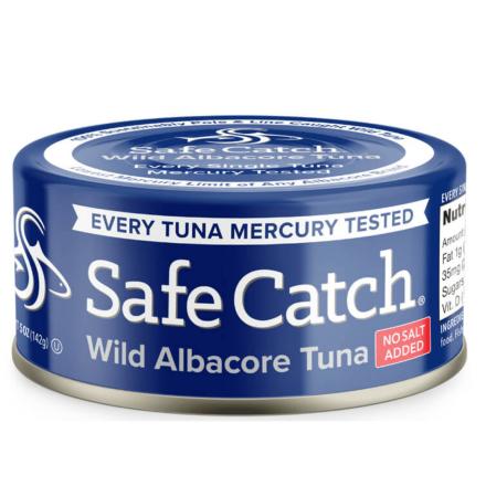 Front of Safe Catch Wild Albacore Tuna, No Salt Added, 142g
