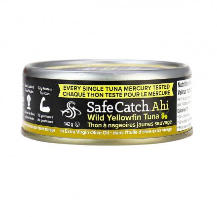Safecatch Ahi Wild Yellowfin Tuna in Extra Virgin Olive Oil, 142g