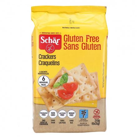 Front of Schär Gluten Free Crackers, 210g