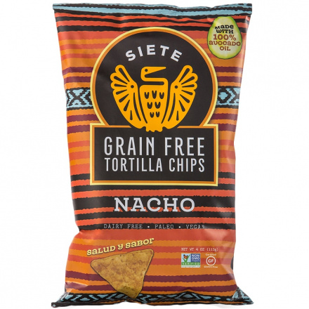Siete Nacho Grain Free Tortilla Chips, 113g