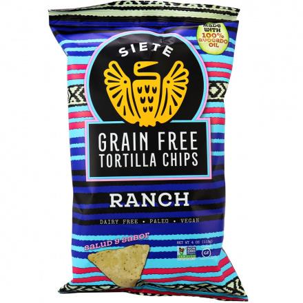 Siete Ranch Grain Free Tortilla Chips, 113g