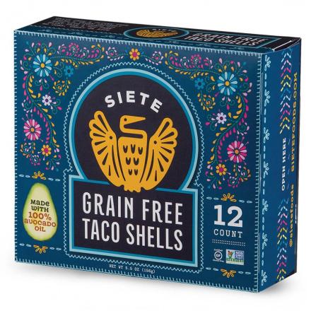 Siete Grain Free Taco Shells, 12 Count