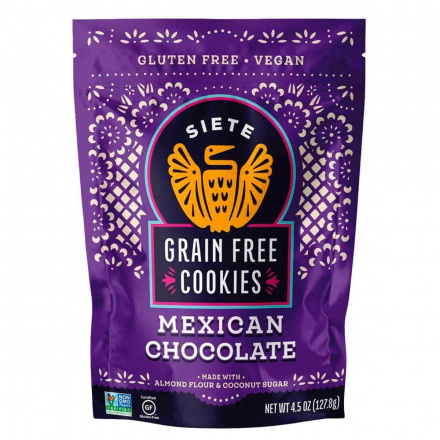 Front of Siete Grain Free Cookies Mexican Chocolate, 127.8g