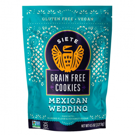 Front of Siete Grain Free Cookies Mexican Wedding, 127.8g