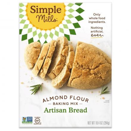Front of Simple Mills Grain-Free Almond Flour Baking Mix Artisan Bread, 294g