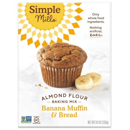 Front of Simple Mills Grain-Free Almond Flour Baking Mix Banana Bread, 255g