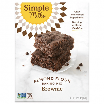 Front of Simple Mills Grain-Free Almond Flour Baking Mix Brownie, 368g