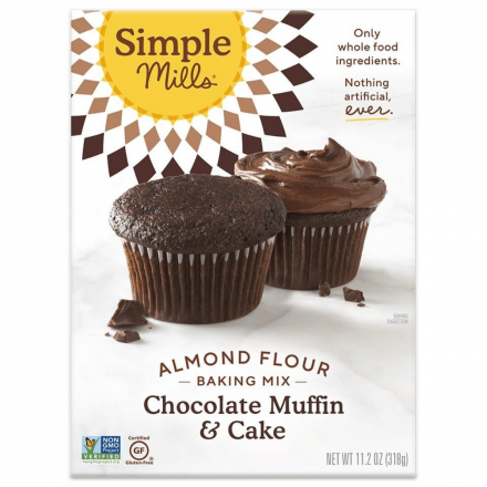 Front of Simple Mills Grain-Free Almond Flour Baking Mix Chocolate Cake, 318g