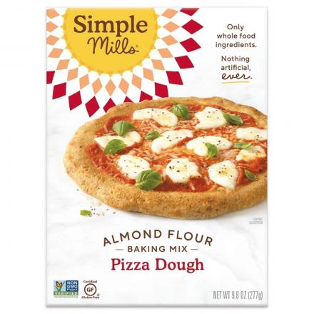 Front of Simple Mills Grain-Free Almond Flour Baking Mix Pizza Dough, 277g