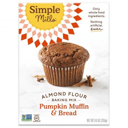 Front of Simple Mills Grain-Free Almond Flour Baking Mix Pumpkin Bread, 255g