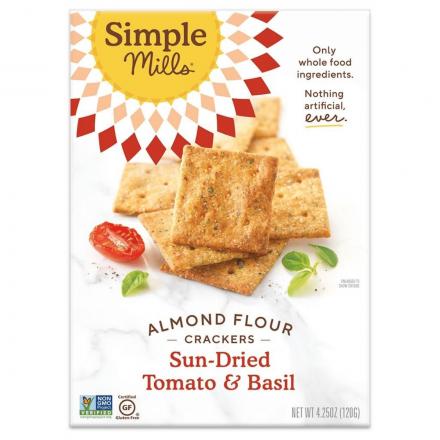 Simple Mills Grain-Free Almond Flour Crackers Sun-Dried Tomato & Basil, 120g