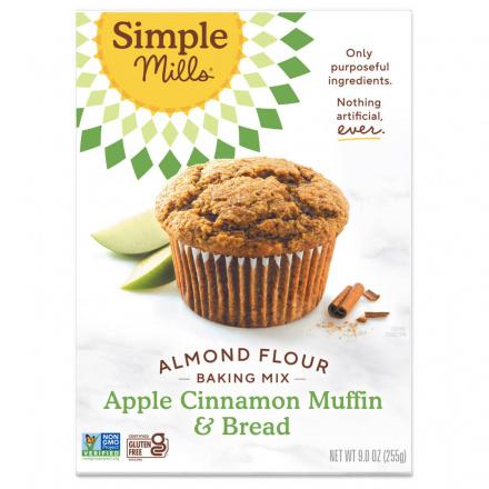 Simple Mills Apple Cinnamon Muffin & Bread Mix, 255g