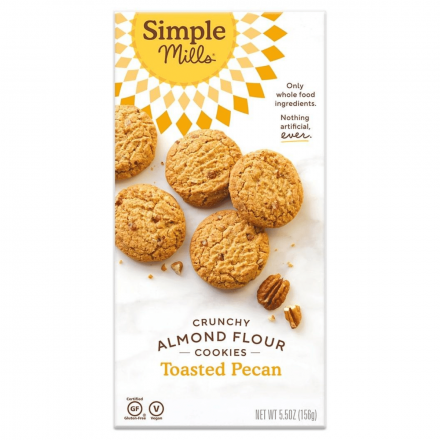 Simple Mills Grain-Free Crunchy Cookies Toasted Pecan, 156g