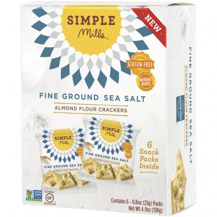 Simple Mills Fine Ground Sea Salt Almond Flour Cracker Snack Pack, 138g
