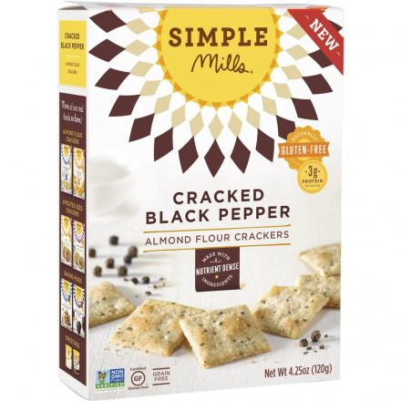 Simple Mills Black Pepper Almond Flour Crackers, 120g