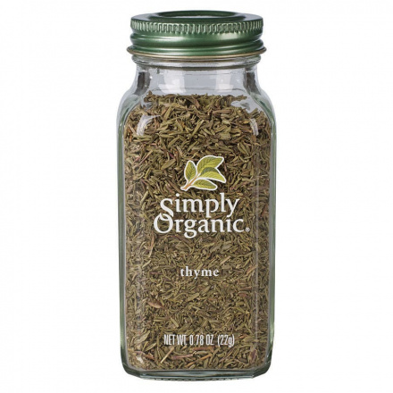 Front of Simply Organic Thyme, 22g