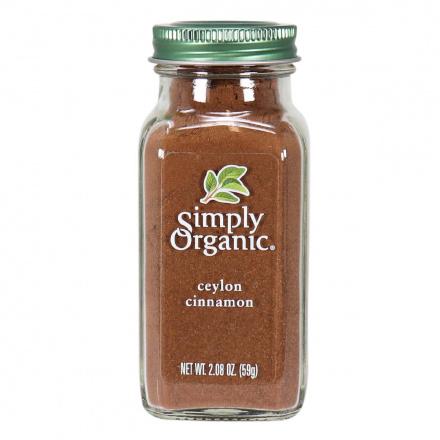 Front of Simply Organic Ceylon Cinnamon, 59g