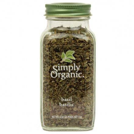 Simply Organic Basil Leaf Sweet Cut & Sifted, 15g