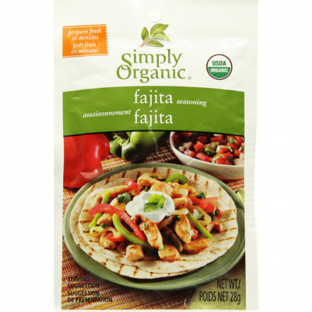 Simply Organic Fajita Seasoning Mix, 28g
