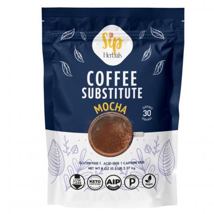 Front of Sip Herbals Coffee Substitute Mocha, 8 oz