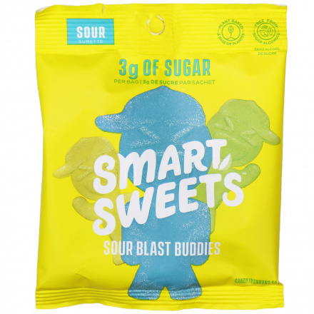 SmartSweets Plant-Based Low Sugar Sour Blast Buddies, 50g Front