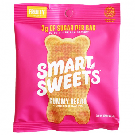 SmartSweets Fruity Low Sugar Gummy Bears, 50g Front