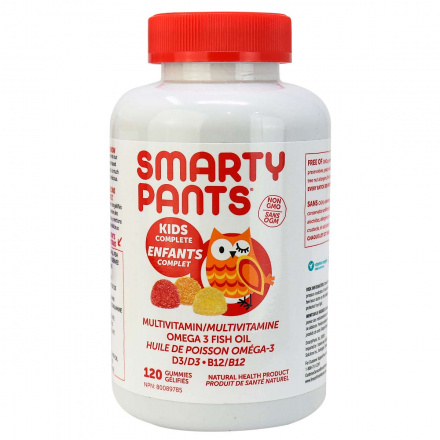 SmartyPants Multivitamins Kid's Formula, 120 Gummies