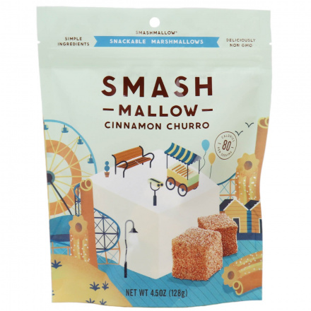 SmashMallow Cinnamon Churro Snackable Marshmallows, 128g