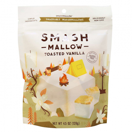 Smashmallow Toasted Vanilla Snackable Marshmallows, 128g