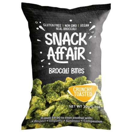 Front of Snack Affair Broccoli Bites, 20g
