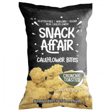 Front of Snack Affair Cauliflower Bites, 20g