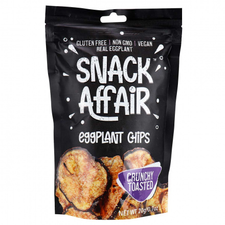 Front of Snack Affair Eggplant Chips, 20g