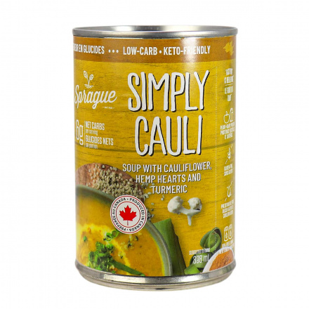 Front of Sprague Simply Cauli Keto-Friendly Soup, 398ml