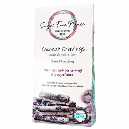 Front of Sugar Free Please Keto Coconut Cravings, 110g