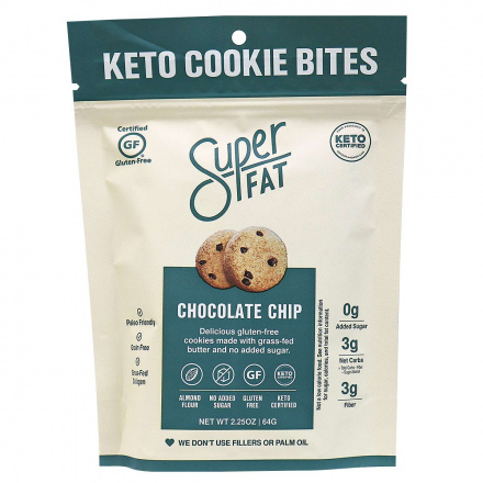 SuperFat Grain-Free Cookies Chocolate Chip, 64g