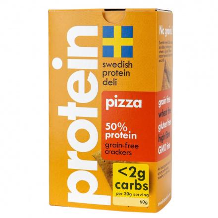Swedish Protein Deli Protein Pizza Grain-Free Crackers, 60g