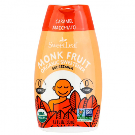 SweetLeaf Monk Fruit Organic Sweetener Caramel Macchiato, 50ml