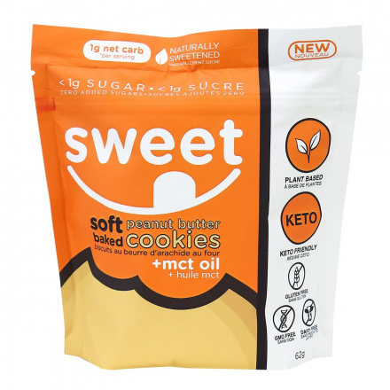 Sweet Nutrition Soft Baked Peanut Butter Cookies, 6 Cookies