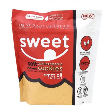 Sweet Nutrition Soft Baked Snickerdoodle Cookies, 6 Cookies