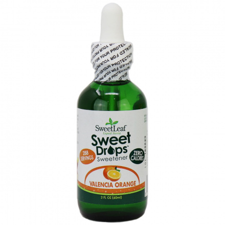 Sweetleaf Sweet Drops Liquid Stevia Valencia Orange, 60ml