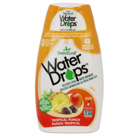 Sweetleaf Tropical Punch Water Drops, 48ml