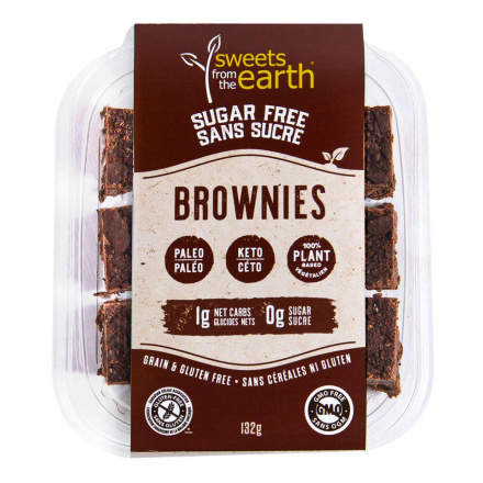 Front of Sweets From The Earth Sugar Free Keto Brownies, 132g