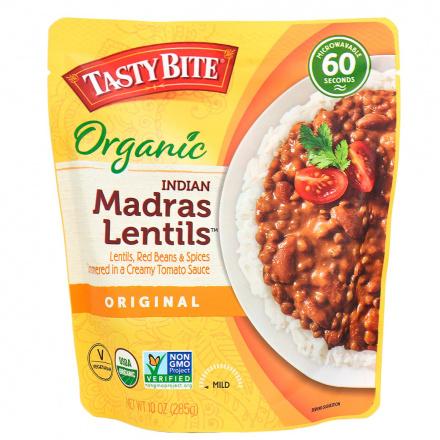 Tasty Bite Organic Indian Madras Lentils, 285g