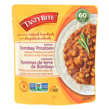 Front of Tasty Bite One Step One Minute Bombay Potatoes, 285g