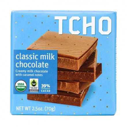 TCHO 39% Cacao Milk Chocolate Bar, 70g