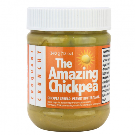 The Amazing Chickpea Chickpea Spread Peanut Butter Flavoured Crunchy, 340g