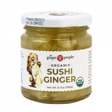 The Ginger People Organic Sushi Ginger, 190g